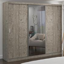 Guarda-Roupa Casal 3 Portas com 1 Espelho 100% Mdf 7320e1 Demolição - Foscarini -