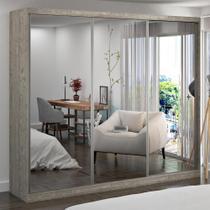 Guarda-Roupa Casal 3 Portas com 3 Espelhos 100% Mdf 7320e3 Demolição - Foscarini -