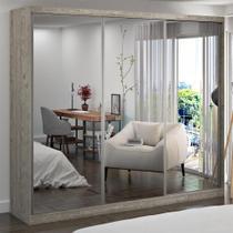 Guarda-Roupa Casal 3 Portas com 3 Espelhos 100% Mdf 7320g4e3 Demolição - Foscarini -
