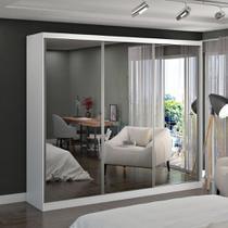 Guarda-Roupa casal 3 Portas com 3 Espelhos 100% MDF Branco Foscarini -