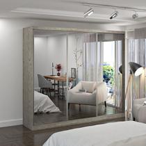 Guarda-Roupa Casal 3 Portas com 3 Espelhos 100% MDF Demolição Foscarini -