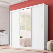 Guarda Roupa Casal 3 Portas com Espelho Residence II Demóbile - Demobile