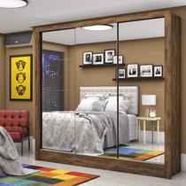 Guarda Roupa Casal 3 Portas com Espelho Santiago Premium Espresso Móveis Demolição -