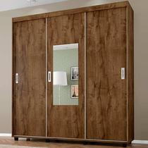 Guarda-Roupa Casal 3 Portas com Espelho Valença - Bechara -