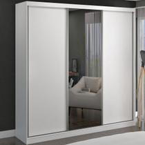 Guarda-roupa Casal 3 Portas De Correr 1 Espelho 100% Mdf 8803e1 Branco - Foscarini -