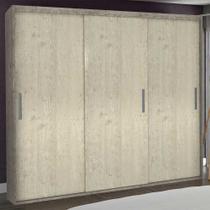 Guarda-Roupa Casal 3 Portas de Correr 100% Mdf 1986 Demolição/Marfim Areia - Foscarini -