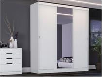Guarda-roupa Casal 3 Portas de Correr 3 Gavetas - Kappesberg F513 com Espelho