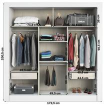 Guarda-roupa Casal 3 Portas De Correr Com Espelho Amanda Plus Branco - Pnr Móveis -