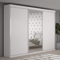 Guarda Roupa Casal 3 Portas de Correr Grécia com espelho central Bianchi Móveis -
