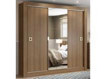 Guarda-roupa Casal 3 Portas de Correr Madesa - City 1056-1E com Espelho