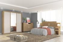 Guarda-roupa Casal 3 Portas Deslizantes  Residence Espelho com Moldura em MDF - Demóbile -