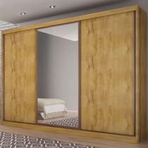 Guarda-Roupa Casal 3 Portas e 8 Gavetas com Espelho Spazzio Novo Horizonte -