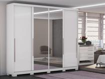 Guarda-Roupa Casal 4 Portas 4 Gavetas  - Kappesberg Unique com Espelho