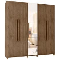 Guarda-Roupa Casal 5 Portas com Espelho e Sapateira com 3 Gavetas Munique-RV Móveis -