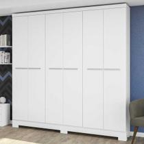 Guarda-roupa casal 6 portas 2 gavetas e530 branco - kappesberg - Kappesberg Crome