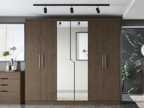 Guarda-roupa Casal 6 Portas 3 Gavetas Kappesberg - York com Espelho