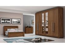 Guarda-roupa Casal 6 Portas 4 Gavetas - Made Marcs Veneza 713.438 com Espelho