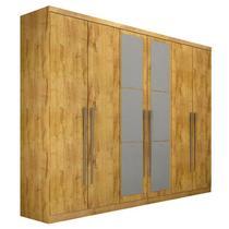 Guarda-Roupa Casal 6 Portas com Espelho Everest- Novo Horizonte -