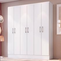 Guarda-roupa Casal 6 Portas Viena Branco - Doripel - Doripel Móveis