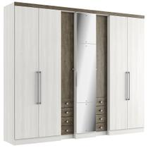 Guarda-Roupa Casal 7 Portas 8 Gavetas Absolut Pluss Glass THB -