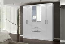 Guarda Roupa Casal 7 Portas e 2 Gavetas Sem Espelho Branco - Porto/Maxel - Maxel Móveis