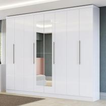 Guarda-roupa Casal 8 Portas 4 Gavetas H559-br Branco - Kappesberg -