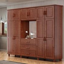 Guarda-Roupa Casal Capelinha Bipartido Linha Bronze Imbuia 10 Portas Espelho e 03 Gavetas Madeira Maciça Pinus - Finestra -