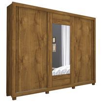 Guarda-Roupa Casal com 3 Portas e Espelho Paris Slide-Docelar -