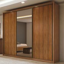 Guarda Roupa Casal com espelho 03 portas 06 gavetas Spazio Glass Lopas -