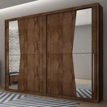 Guarda Roupa Casal com Espelho 2 Portas de Correr Geom Novo Horizonte Canela -