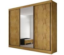 Guarda Roupa Casal com Espelho 3 Portas 6 Gavetas Diamond Novo Horizonte -