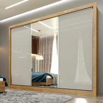 Guarda Roupa Casal com Espelho 3 Portas 6 Gavetas MDF Phoenix Tcil -