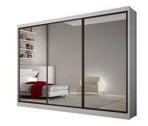 Guarda Roupa Casal com Espelho 3 Portas 8 Gavetas ALFEU Novo  Horizonte - Novo Horizonte