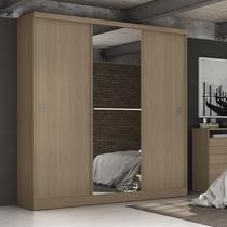 Guarda Roupa Casal com Espelho 3 Portas de Correr S363 Gold Kappesberg Nature -