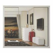 Guarda Roupa Casal com Espelho 3 Portas Flórida Siena Móveis Branco - Carioca