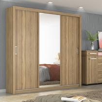 Guarda Roupa Casal com Espelho 3 Portas Residence Demóbile Amendola -