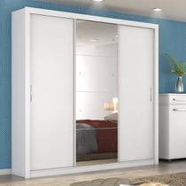 Guarda Roupa Casal com Espelho 3 Portas Residence II Demóbile Branco -