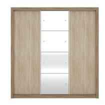 Guarda Roupa Casal com Espelho 3 Portas Residence II Demóbile Nogal Vanilla Touch -