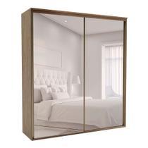 Guarda-Roupa Casal com Espelho Luminum 2 PT 6 GV Ébano - Belmax