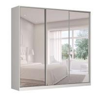 Guarda-Roupa Casal com Espelho Tunas II 3 PT 3 GV Branco - Nova Móbile