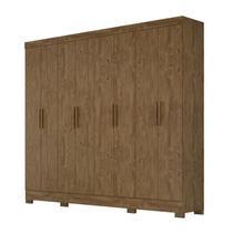 Guarda Roupa Casal Diplomata 08 Portas Castanho Wood Moval -