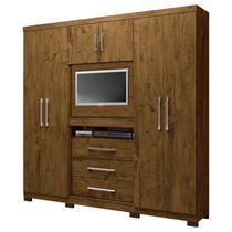 Guarda Roupa Casal Dubai Castanho Wood Moval -