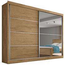 Guarda Roupa Casal Flex 2 Portas com Espelho Verona Plus Made Marcs -