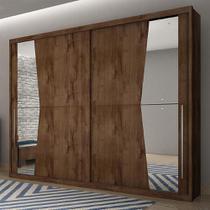 Guarda Roupa Casal Geom Canela 2 Portas Com Espelho - Móveis Novo Horizonte -