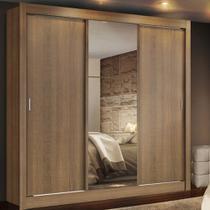 Guarda Roupa Casal Lyon 3 Portas de Correr com Espelho 2 Gavetas 1093-1E2G Madesa -