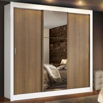 Guarda Roupa Casal Lyon Plus 3 Portas de Correr com Espelho 4 Gavetas 1093-1E4G Madesa -