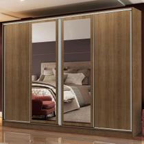 Guarda-Roupa Casal Madesa Cronos 4 Portas de Correr com Espelhos -