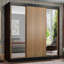 Guarda-Roupa Casal Madesa Reno 3 Portas de Correr com Espelhos -