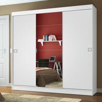 Guarda-Roupa Casal Madesa Veneza 3 Portas de Correr Central com Espelho - Madesa Móveis -
