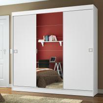 Guarda-Roupa Casal Madesa Veneza 3 Portas de Correr Central com Espelho -